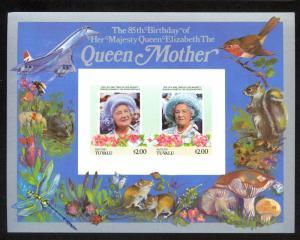 TUVALU VAITUPU 1986 $2+$2 Queen Mother Birthday Souvenir Sheet Sc 56 MNH