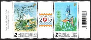 Singapore 1620 pair, MNH. Sea Shells, Tropical Fish, 2013