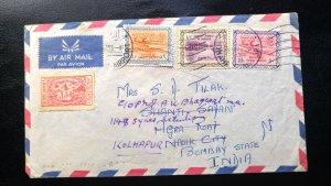VERY RARE SAUDI ARABIA 1963 RARE DESTINATION COVER INDIA FORWARDED WITH OUT ADDI