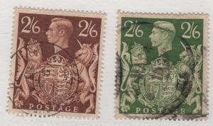 Scott 249 & 249A SG 476 & 476a George VI 2/6