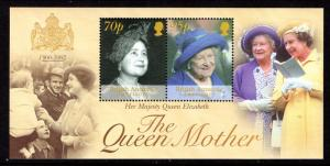 British Antarctic Territory 314 Queen Mother Souvenir Sheet MNH VF