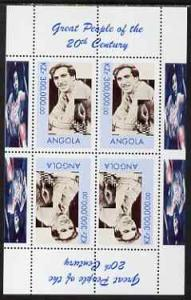 Angola 1999 Great People of the 20th Century - Bobby Fisc...