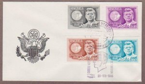 Venezuela # 884 - 885 &  Airmail # C900 - C901 , JFK FDC - I Combine S/H