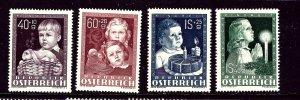 Austria B260-63 MH 1949 Children set
