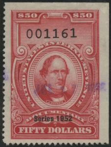 #R612 $50 DOC. STAMP VF SERIES 1952 BS3379