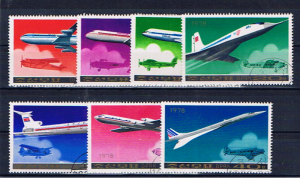 NORTH KOREA 1978 AIRCRAFT SET OF SEVEN