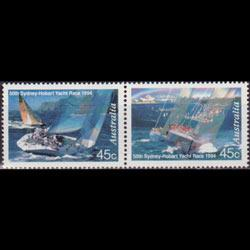 AUSTRALIA 1994 - Scott# 1396 Yacht Rice Set of 2 NH