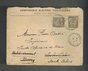 1902 Sakiet Sidi Youssef Tunisia Mining Company Cover to Souk arbas