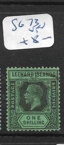 LEEWARD ISLANDS  (PP1406B)  KGV 1/-  SG 73   VFU