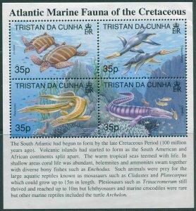 Tristan Da Cunha 1997 SG610 Crestaceous Marine Fauna MS MNH