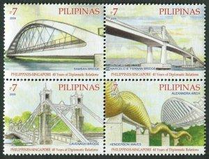 Philippines 3231 ad,3231e sheet,MNH. Diplomatic Relations 2009. Bridges.