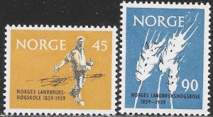 Norway 378-379 MNH - Agricultural High School Centenary