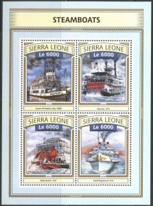 SIERRA LEONE  2016 STEAM BOATS SHEET MINT NH