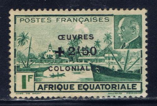 French Equatorial Africa B37 Hinged 1944 Overprint