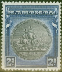 Bahamas 1943 2s Brownish Black & Indigo SG131b V.F Lightly Mtd Mint