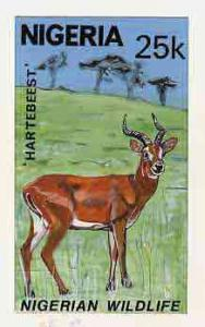 Nigeria 1984 Nigerian Wildlife - original hand-painted ar...