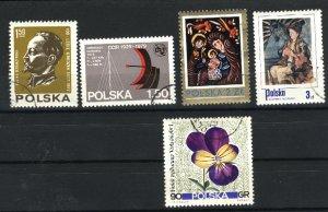 Poland 2234, 2355, 2363, plus 2   used VF  PD
