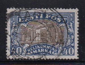 Estonia Sc 83 1927 40m Vanemuine Theatre stamp used