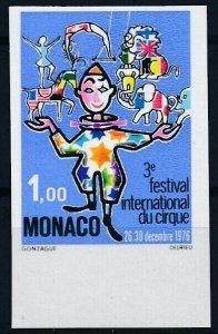 [I1943] Monaco 1976 Circus good stamp very fine MNH imperf $30