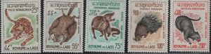 LAOS C47-C51 MNH ROYAUME DU LAOS ANIMALS 1965 SET