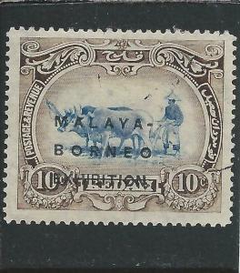 KEDAH 1922 EXHIBITION 10c BLUE & SEPIA GU SG 48 CAT £50