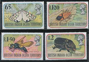 British Indian Ocean Territory 86-89 MNH (1976)