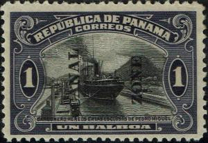 CANAL ZONE #59 1920 OVERPRINT ON 1b PANAMA ISSUE--MINT-OG/HINGED