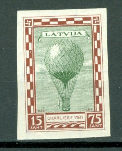 LATVIA IMPERF.  AIR #CB11a...MNH..CAT. $17.50
