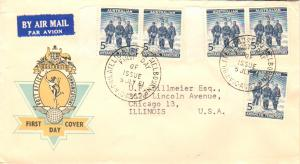 Australian Antarctic Territory Scott L6 Typewritten Address.
