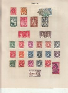 NIGERIA 2 ALBUM PAGE  VALUES MOSTLY 1937-55, MOUNTED MINT