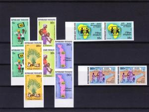 TOGO 1979 IYC  Year of Child Set  PAIR IMPERF. Sc#1023/1028