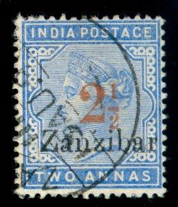 MOMEN: ZANZIBAR STAMPS SG #27 1896 USED SCARCE LOT #60087-1