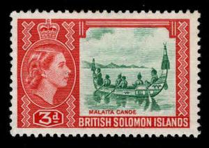 British Solomon Islands Scott 94 MH* wmk 4 QE2