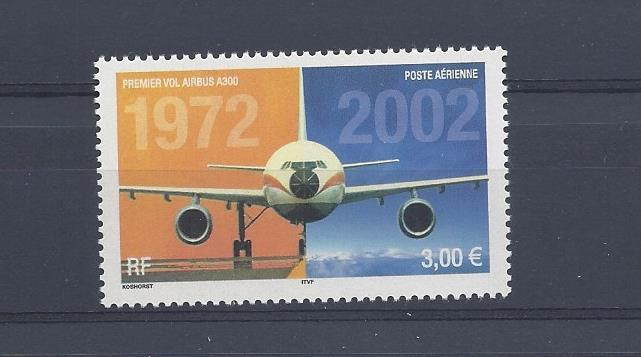 France, C64, First Flight Airbus 300 - 30th Single, **MNH**