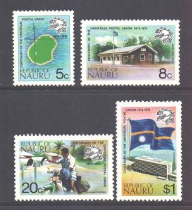 Nauru Scott 114/117 - SG122/125, 1974 UPU Set MH*
