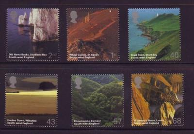 Great Britain Sc 2261-66 2005 SW England Scenery stamp set mint NH