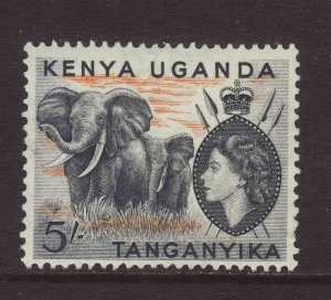 1954 KUT 5/- Mounted Mint SG178