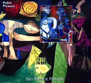 Sao Tome & Principe 2005 Pablo PICASSO PAINTINGS s/s Perforated mnh.vf
