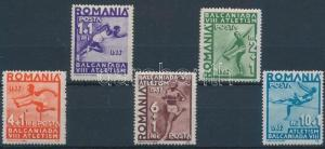 Romania stamp Sport set MNH 1937 Mi 538-542 WS199494
