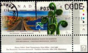 Scenic Canadian Highway, New Brunswick, Canada SC#1741 used