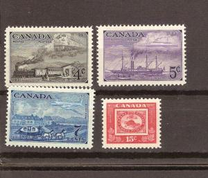 CANADA STAMP CENTENARY MNH STAMPS #311-314 LOT#503