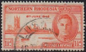Northern Rhodesia 1946	1½d red-orange (p 13½)	used