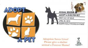 Animal Rescue, Adopt A Shelter Pet First Day Cover #5A