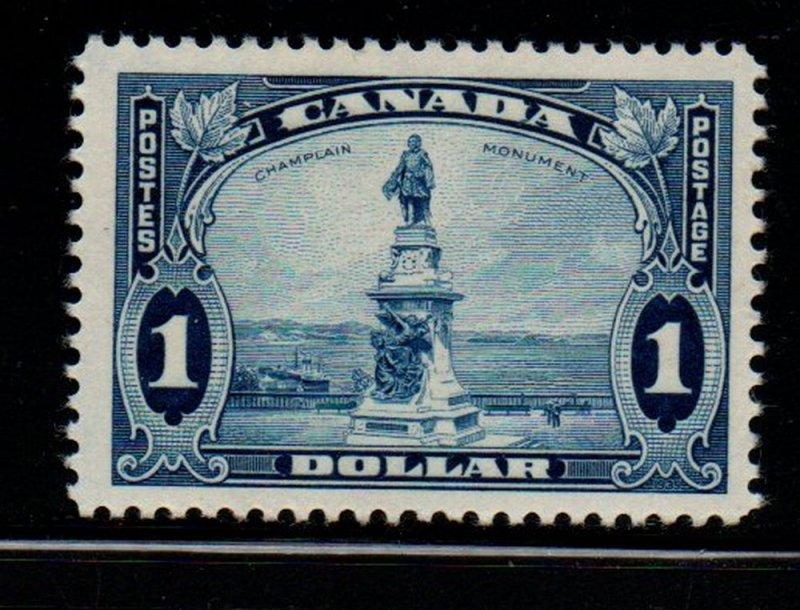 Canada Sc 227 1935 $1 Champlain Monument stamp mint