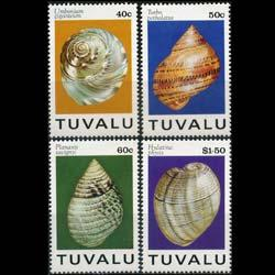 TUVALU 1994 - Scott# 671-4 Seashells Set of 4 NH