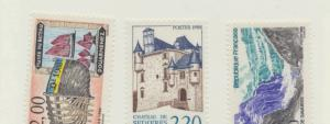 France Scott #2116 To 2120, Tourist Issue From 1988, Collectible Postage Stam...