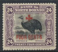 North Borneo  SG 245 SC# B41 MH  Opt Red Cross see scan & details