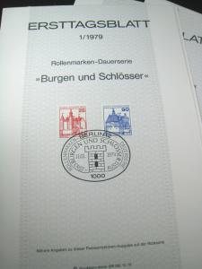 GERMANY / BERLIN FIRST DAY PROGRAM CARDS - 1979, #1 - #17