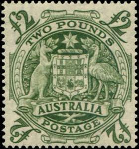 Australia SC# 221 SG# 224d Arms of Australia 2GBP MLH