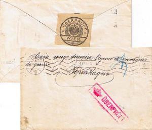 Austria P.O.W. Free Mail 1916 3/4 Wien 68 to International Red Cross Copenhag...